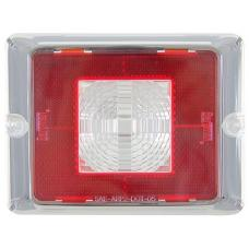 Bargman Enhanced Height 84/85/86 Series Incandescent Backup Trailer Taillight Lens Only Red Reflex w/Clear Center Chrome Border